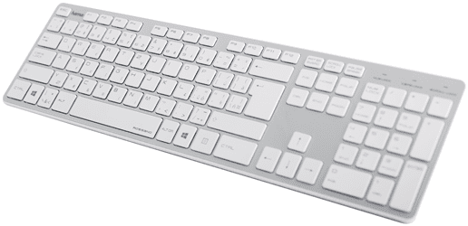f9aefa1d2 Hama Rossano 182668 bielo-strieborná klávesnica | Nay.sk