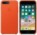Apple kožený kryt pre iPhone 8 Plus a 7 Plus, jasne oranžová