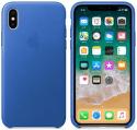 Apple kožený kryt pre iPhone X, elektro modrý