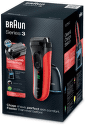 Braun Series 3-3050 Clean&Charge Red
