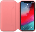 Apple kožené puzdro Folio pre iPhone XS, pivonkovo ružová