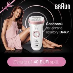 Cashback až do 40 € na epilátory Braun