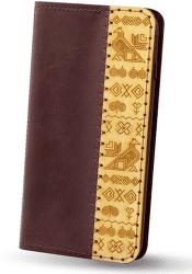 Red Ant knižkové puzdro pre Apple iPhone X a Xs edícia Čičmany, bordová