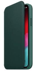 Apple kožené puzdro Folio pre Apple iPhone XS, píniovo zelená