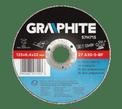 GRAPHITE Brúsny kotúč na kov, 125 x 6.4 22.2 mm, 27 A30-S-BF