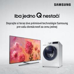 Získajte práčku QDRIVE v sete s QLED TV Samsung