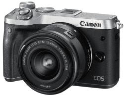 Canon EOS M6 + EF-M 15-45mm IS STM strieborný