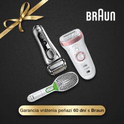 60 dní záruka vrátenia peňazí na produkty Braun