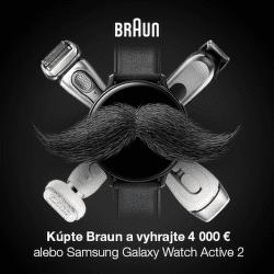 Vyhrajte 4000 € alebo smart hodinky za nákup produktov Braun
