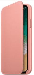 Apple kožené puzdro Folio pre iPhone X, bledo ružové