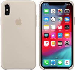 Apple silikónový kryt pre iPhone XS, kamenne sivý
