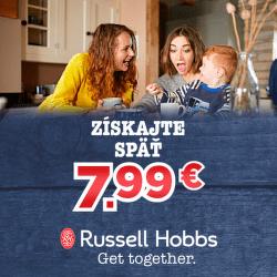 Cashback 7,99 € na produkty malej bielej techniky Russell Hobbs