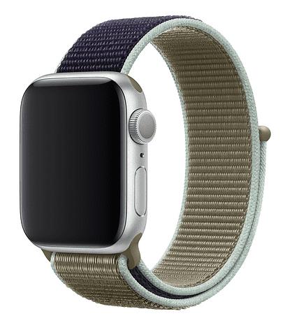 Apple Watch 44 mm športový prevliekací remienok, khaki