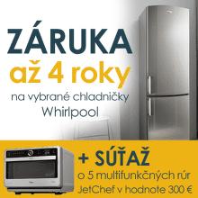 4-ročná záruka na chladničky Whirlpool