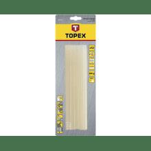 TOPEX Tyčky lepiace 11 mm, 12 ks , transparentné