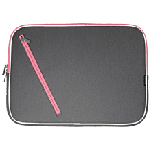 MARCO POLO ZIP NOTEBOOK BAG G/PINK B-903-13