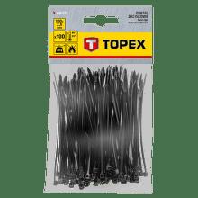 TOPEX 2,5 x 100 mm 100 ks, čierna