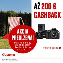 Letný cashback až do 200 € na produkty Canon