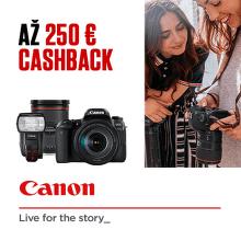Jesenný cashback až do 250 € na produkty Canon