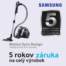 5-ročná záruka na vysávače Samsung Motion Sync