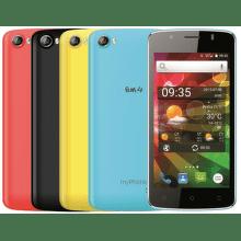 MyPhone FUN 4 (čierny) + 4 farebné kryty