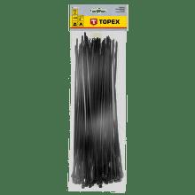 TOPEX 3,6 x 300 mm 100 ks, čierna