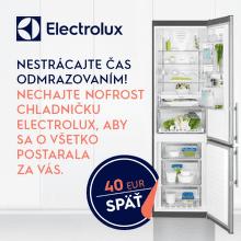 Cashback 40 € na chladničky Electrolux